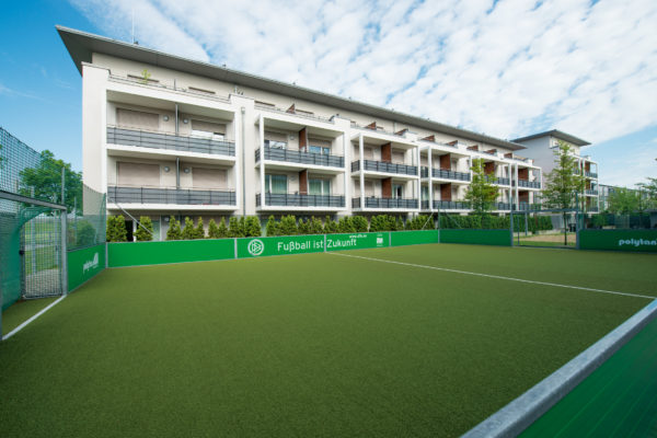 Fußballplatz des Student Living Center Garching (SLC)